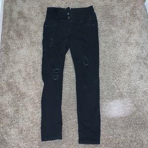 Refuge Black Skinny jeans size 4 with holes